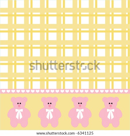 blue jean teddy wallpaper. pink plaid wallpaper