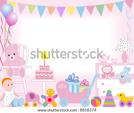 Baby girl first birthday