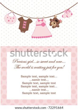 Baby Girl Invitation