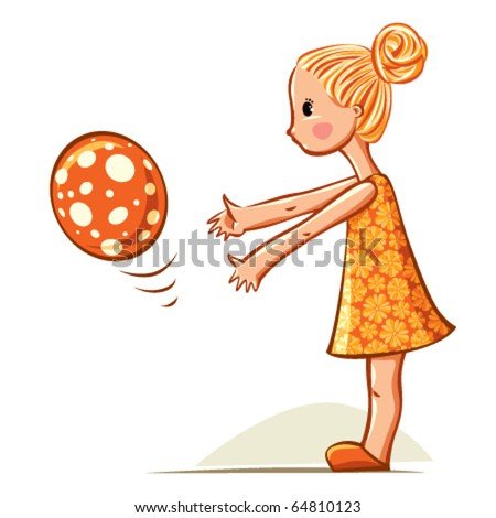 baby girl playing with balloon