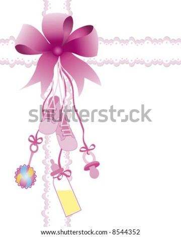 Baby girl toys with bow