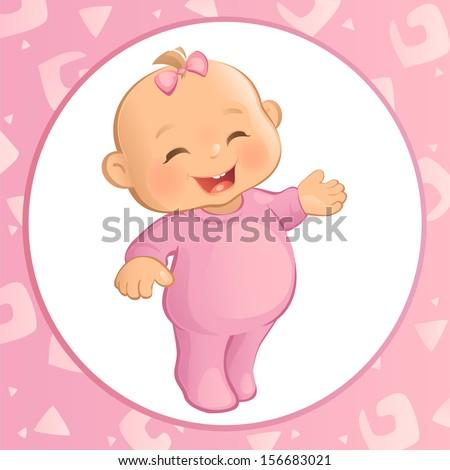 Baby Logo Vector Baby Girl Vector