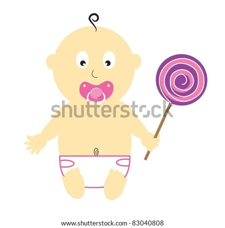 Baby Girl With Lollipop