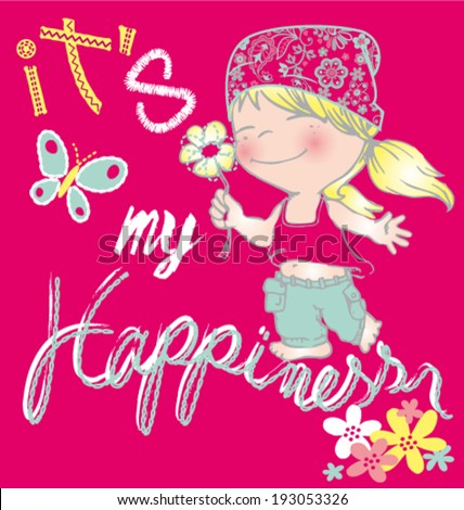 Baby Hippie Girl cartoon