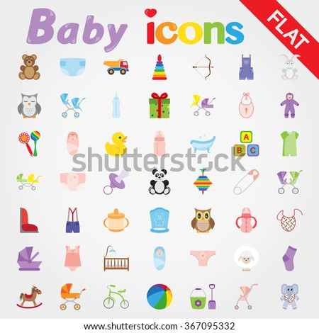 baby icon set for web and