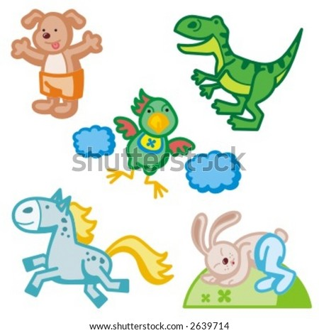 Baby icons series. Animals. Check my portfolio for much more of this series.