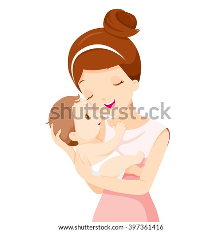baby in a tender embrace of
