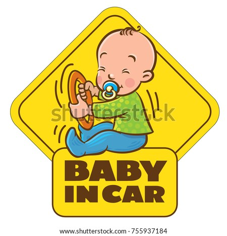 baby in car funny small child