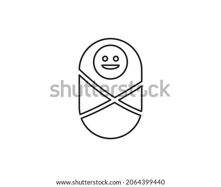 Baby little girl smile cute young human funny icon vector symbol design art