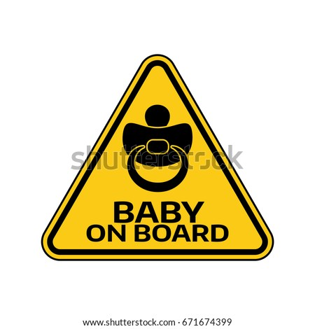 baby on board sign with child