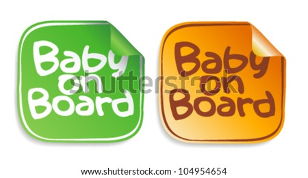 Baby on board stickers set.