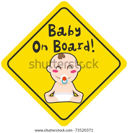 baby on board yellow diamond