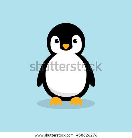 baby penguin standing on sky