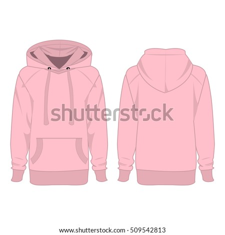 baby pink hoodie isolated vector