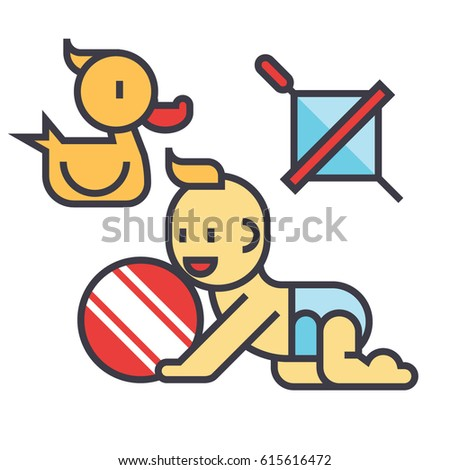 baby playing icon symbol  kid