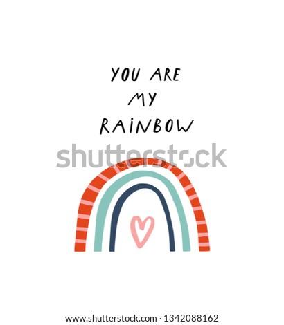 baby print  you are my rainbow