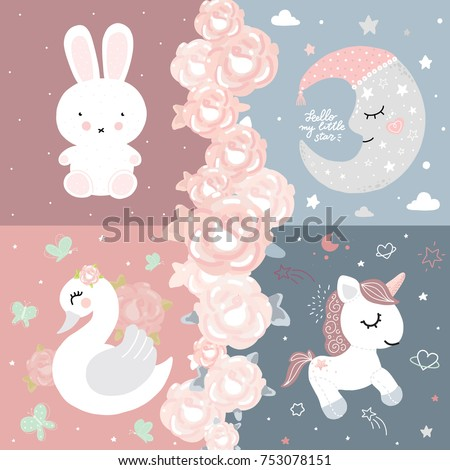 baby room decor bunny unicorn