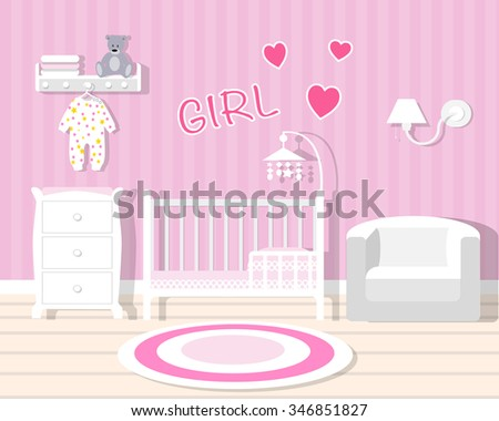 baby room in pink baby room
