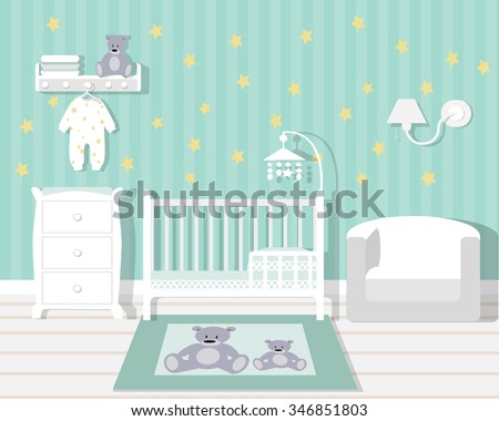 Baby Room Vector - Download Free Vector Art, Stock Graphics & Images