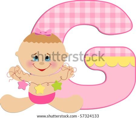 Baby's illustrated ABC alphabet (EPS10) - stock vector