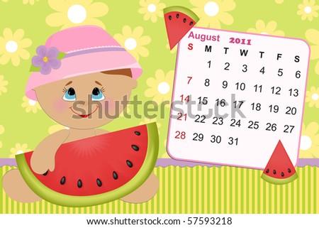august calendar for 2011. calendar for august 2011