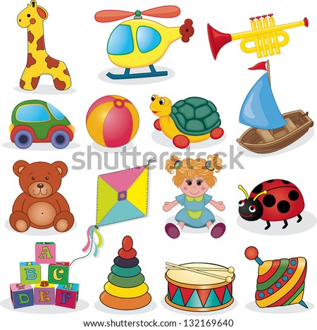 baby's toys set vector