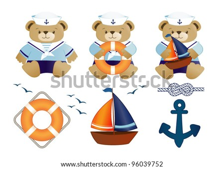baby sailor bear set