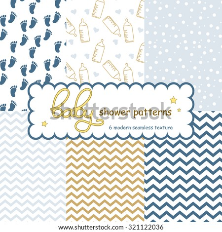 baby seamless patterns arrival