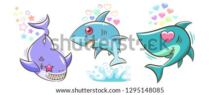 baby shark bundle clipart