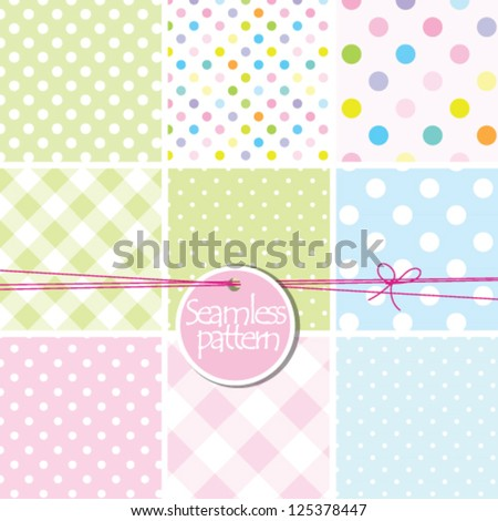 baby shower, baby background Set of cute seamless patterns