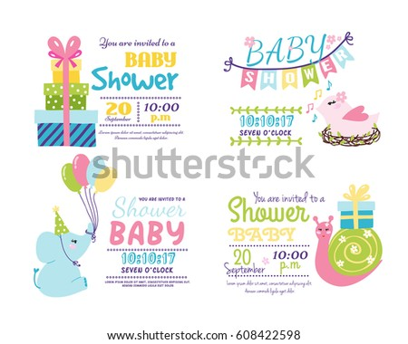 Baby Shower Badge Happy Mothers Day Insignias Logotype Sticker Stamp Icon  Frame And Card Design Doodle