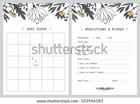 baby shower vector invitation card design download free vector art