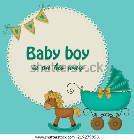 stock-vector-baby-shower-blue-card-for-boys