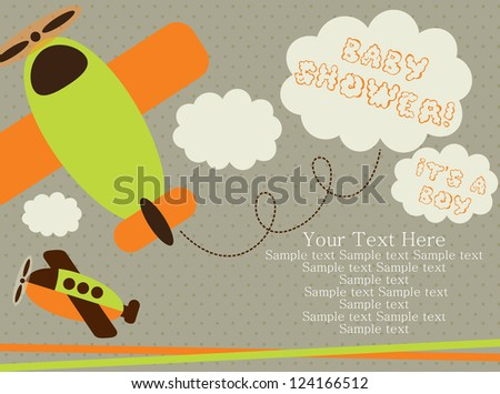 baby shower card design vector illustration