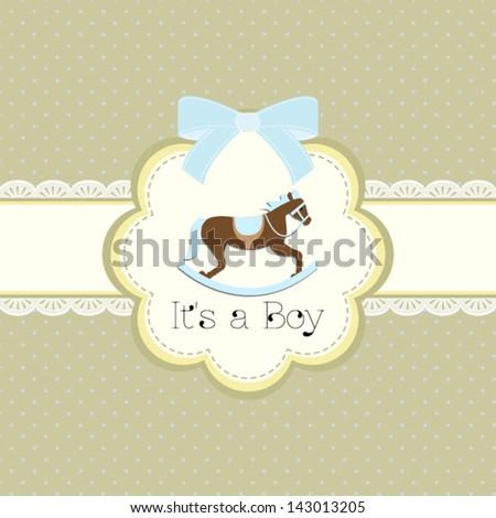 Baby shower horse cartoon