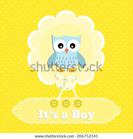 baby shower card  for baby boy
