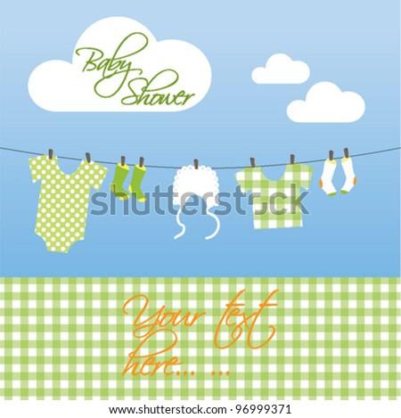 Baby Shower card - neutral
