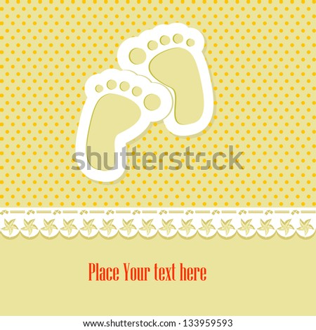 baby shower card over polka