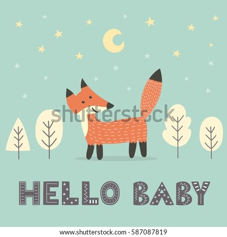 baby shower card with a cute