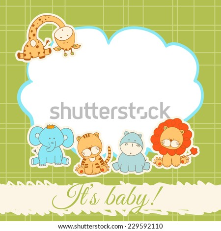 Baby Animals Clipart DIY Baby Shower Pastel Cute Elephant