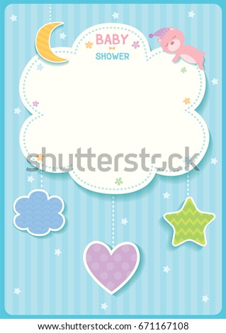 baby shower cute card design