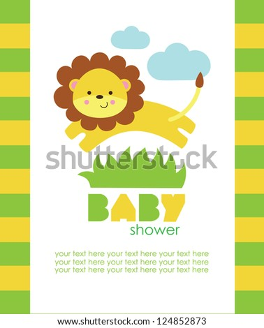baby shower design. vector illustration