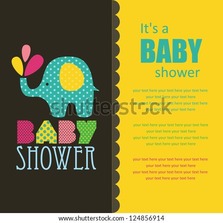 baby shower design vector illustration 124856914 shutterstock