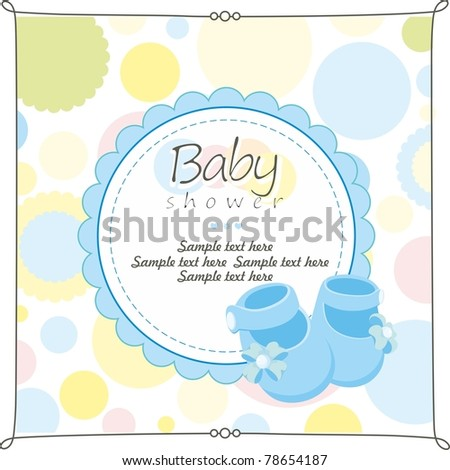 baby shower greeting card stock vector illustration 78654187