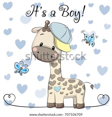 stock-vector-baby-shower-greeting-card-with-cute-cartoon-giraffe-boy