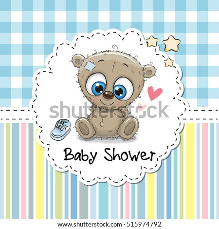 baby shower greeting card with
