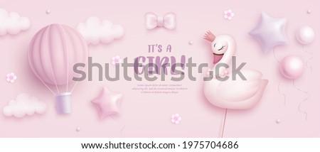 baby shower horizontal banner
