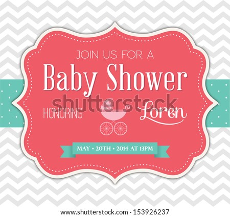 Shutterstock Baby Shower Invitation