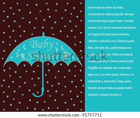 Baby Shower Invitation Design with Pattern Background for boy or girl