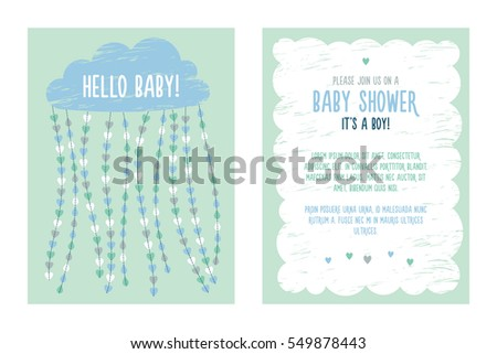Baby Shower Invitations Templates | Baby Shower Invitation Card Template Download Free Vector Art